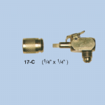 ITE - R407C - Quick Release Coupler 17c 90 Degree Bend